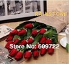 2013  High Simulation Artificial Rose Single real touch latex Flower PU Material 3 Color in Wedding Decoration FL114