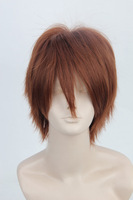 Light brow short shaggy layered anime cosplay costume wig.stock.Free shipping