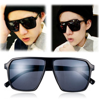 M37 vintage pank skull sunglasses big black square sunglasses
