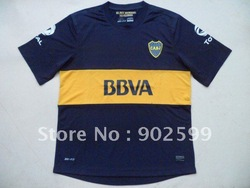 New arrival 12/13 best quality Boca Juniors home dark blue soccer football jersey, Boca Juniors soccer jersey, size:S-XL(China (Mainland))
