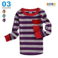Children's clothing 2012 autumn boys clothing girls clothing long-sleeve T-shirt o-neck casual stripe basic shirt