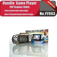 No.YY003  BLACK 2012 2.7 inches New game station PVT II 16 bit digital pocket game player