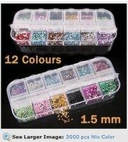 3000 pcs Mix Color Teardrop Nail Art Gems Rhinestones Deco Glitters Beautiful decoration HB975