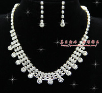 2012 bride accessories rhinestone married necklace piece set female 60