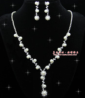 The bride accessories married necklace piece set bridal accessories female 015