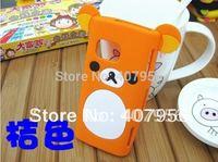 New Design Rilakkuma Lazy Bear Soft Back Case for Nokia X6 X6-00,With high quality,1pcs/lot