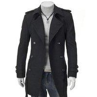New Men's slim coats  Fashion top design jacket coats cotton 4size:M-XXL 1001