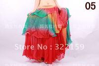 imitated silk Belly Dance Skirt 3layers circle
