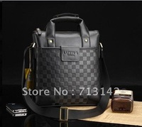 Men bag, Men Leather  Bag, High Quality PU leather,  Shoulder bag, Black/Brown, vertical style, LUYIVARIYEAN 6906