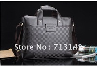 Men bag, Men Leather  Bag, High Quality PU leather,  Shoulder bag, Black/Brown,horizontal style, LUYIVARIYEAN 6907