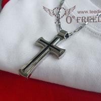 Iverson ai eminem senior white hiphop cross necklace male pendant