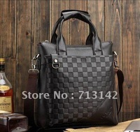 Men bag, Free shipping, Men Leather  Bag, High Quality PU leather, Black/Brown, LUYIVARIYEAN 6908