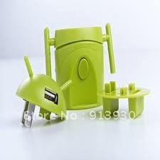 robot usb travel adaptor with USB charger output 1,000mA World Travel Adapter(China (Mainland))