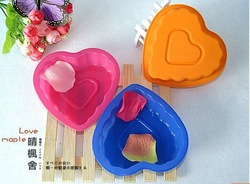 Heart design bread pizza chocolate jelly ice cream cake silicone molding tool food DIY tool Free shipping(China (Mainland))