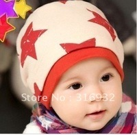 G1 Child hat baby thickening double layer five-pointed star pocket hat