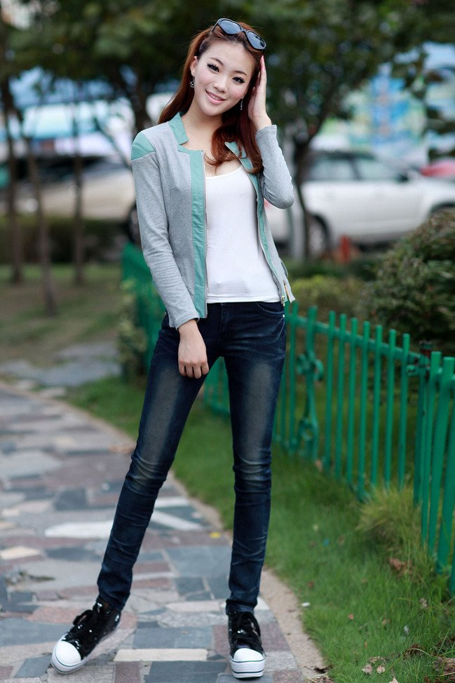 New winter 2012 fashion cultivate one&#39;s morality cotton jeans female trousers low waist do old fold washed(China (Mainland))