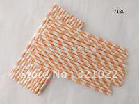 Free shipping Paper Straws, Striped Paper Straws, Drinking straws panton 712C