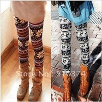New Fashion knitting 3 Styles Crystal Pattern snowflakes Pants Women's Knit Leggings FREE SHIPPING 1PC/LOT
