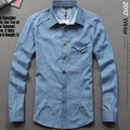 Men's clothing 2012 autumn new arrival male long-sleeve shirt slim male denim shirt casual coat male
