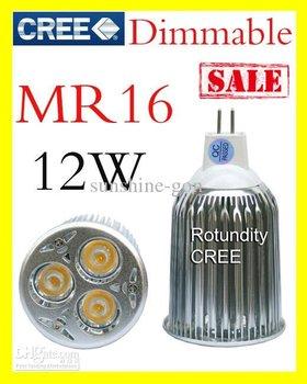 10X Dimmable High power CREE MR16 GU5.3 3x4W 9W 12W LED Light Bulb