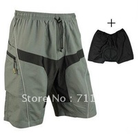 2012 MTB Loose Fit Bicycle Bike Cycling Shorts+Underwear 3D Padded Leisure Pants M-XXL