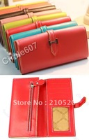 Wholesale Leather Clutch Evening Mobile Phone key Wristlet  Wallet Purse bag Free Shipping