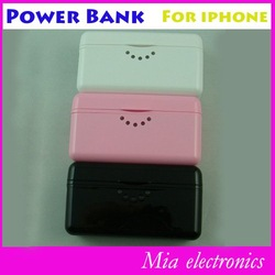 Free shipping 2800mAh portable mobile phone charger power bank for ipad3 iphone4 4s(China (Mainland))
