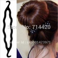 10 PCS/Lot Magic Hair Styling  Design Bun Maker Twist Clip Stick Maker Twist Tool Hair modelling tool