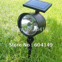 Solar Powered Flood Light 4 Bright LEDs Spotlight, TV Solar Magnifier Spot Light+ Free Shipping