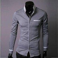 Hot Sell! Free Shipping New Mens Shirts+Men's Long Sleeve Shirts Slim Fit, Men's shirt