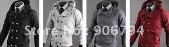 Free Shipping Hot Men's Jackets,Fashion Jackets,New Men's Dust Coat ,Male coat Cool Coat Color:4 colors Size:M-L-XL-XXL