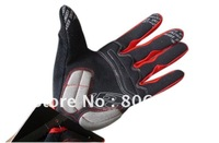 For Road bike Mountain MTB Bicycle Cycling Bike Riding Full Finger Gloves, Ship Red L size in default