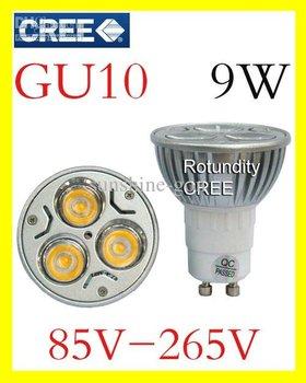 2013 Hotting 10x CREE LED GU10 9W 3x3W High power Spot Light Bulb Spotlight spot lamp Downlight low price