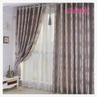hot & fashion,,for bedroom Pleated curtain,finished curtain, gray color,fast delivery,free shipping by China Post Air Mail