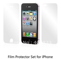 With retail packing frosting screen protector 5 packs/lot for Iphone 4 4S free shipping