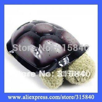 1pc New 2015 Novelty Tortoise Led Lamp Sea Turtle Light Sleep Projecting Lamp Toys TV Star Guide Nightlight -- PLP13 Wholesale