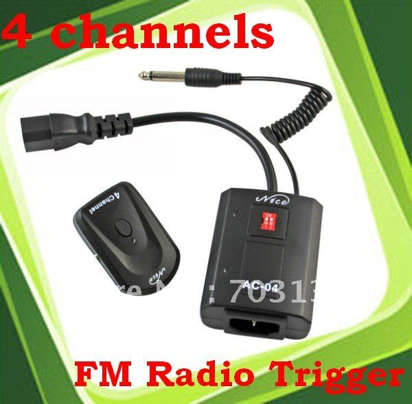 4 Channel FM Radio Trigger AC-04A Wireless Studio Flash Trigger For Canon Nikon Freeshipping&Dropshipping(China (Mainland))