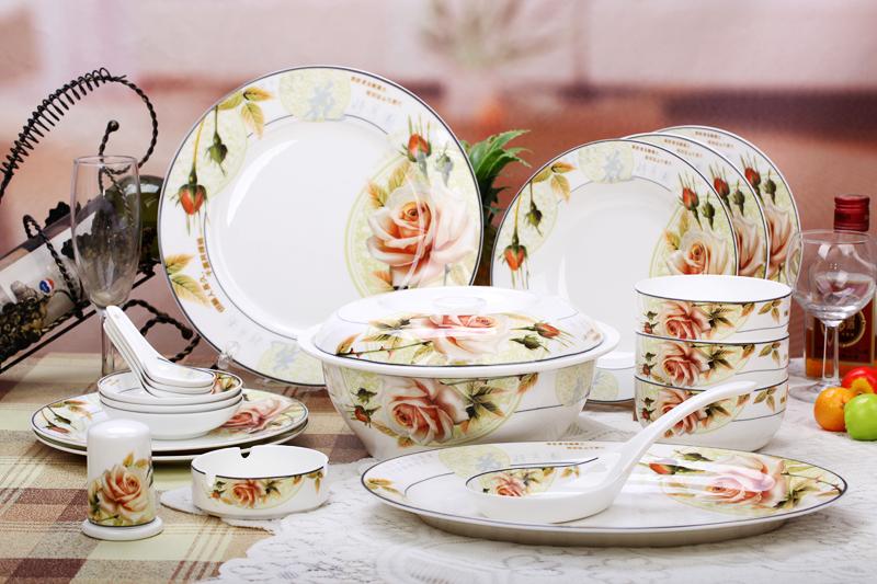 bone china 56pcs ceramic porcelain tableware dinnerware. Black Bedroom Furniture Sets. Home Design Ideas
