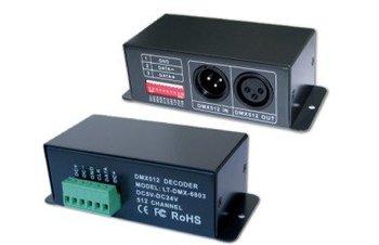 DMX 6803 DMX SPI Decoder works to convert universal DMX 512 singnal to SPI signal, DC5-24V