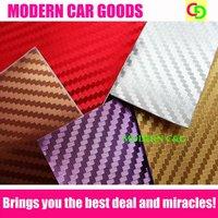 5 colors Wholesale 152cm x 30m 3d carbon fiber chrome vinyl film car vinyl car wrap with air free channels gorgeous car stickers
