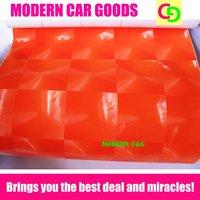 Wholesale 152cm x 30m orange cat eyes vinyl film car vinyl car wrap practicable car stickers with air channels