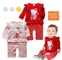 baby clothes,newborn kids clothing,Hello kitty laciness dot long-sleeve romper.1color of 3 kinds of size sell,CPAM free shipping