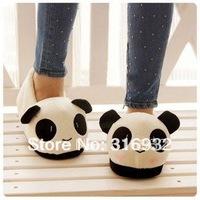 K5 Plush Women and men Winter Fuzzy plush PANDA slippers, free shipping