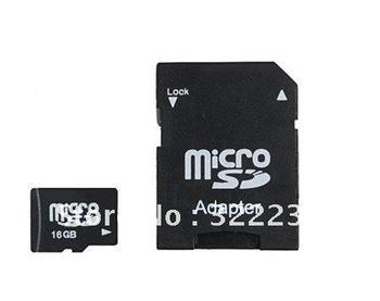 FREE shipping High speed 2GB,4GB,8GB,16GB ,32GB MicroSD Micro SD Transflash TF Card with full real capacity + Adapter