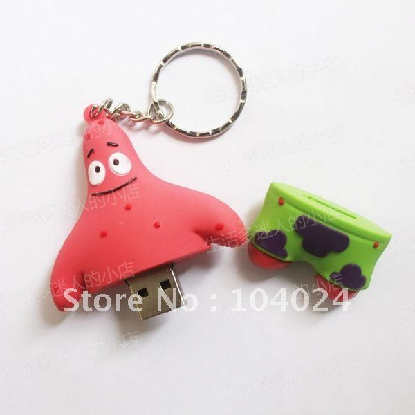 4GB 8GB 16GB 32GB lovely cartoon spongeBob sponge bob USB 2.0 flash memory Pen drive(China (Mainland))