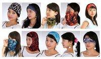Wholelesale 50pcs Men Spring Bandanas Women Turban Scarf Summer Ring Sport Head Bands Mens Masks Balaclava Womens Autumn Hoods