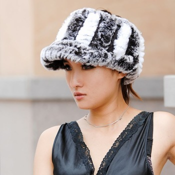 2012 genuine fur hat rex rabbit hair hat women's visor earflip headband multicolor
