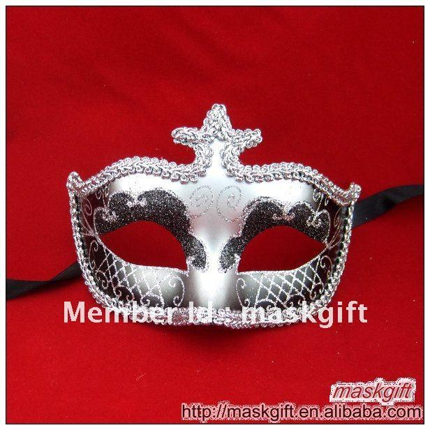 Free shipping to USA Charming design black and silver sexy Venetian mask, Masquerade mask(China (Mainland))