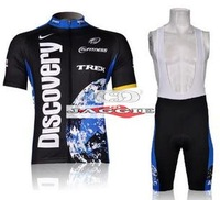 Free shipping! 2007 Discoverys team cycling jersey and bib shorts / short sleeve jerseys pants bike bicycle wear clothes set