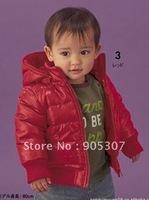 Baby winter hooded jacekt,baby warm coat,polar fleece lining,3 pcs/lot,free shipping